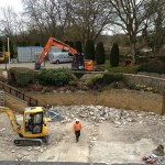 Civil engineering groundworks