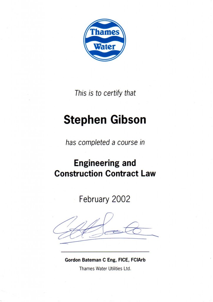 Civil Engineering Engineering and Construction Law Certificate