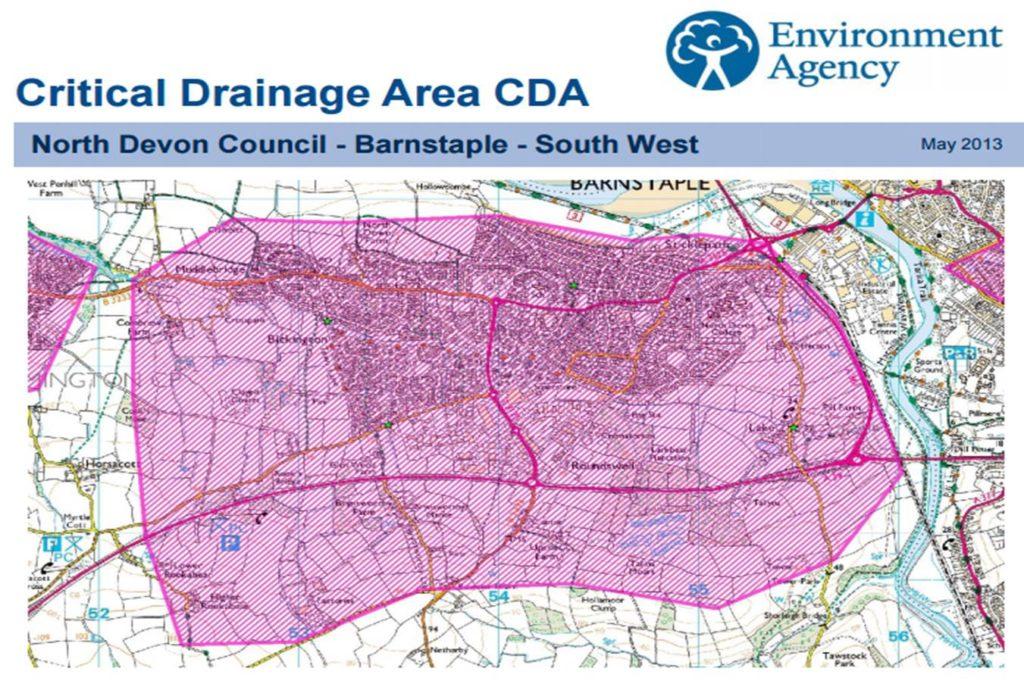 critical drainage area